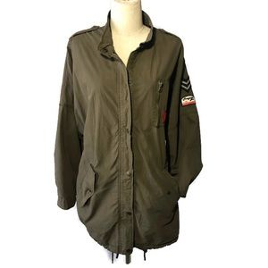 Zara Woman M olive green utility jacket.